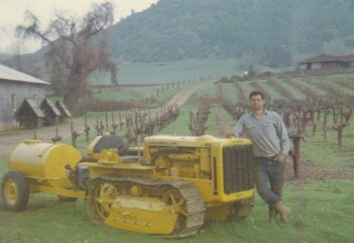 Ed on Sausal Ranch b4 the winery was built