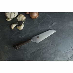 Shun Kanso 5-Inch Asian Multi-Prep Knife; Stainless Steel Double-Bevel Blade and Contoured Tagayasan...