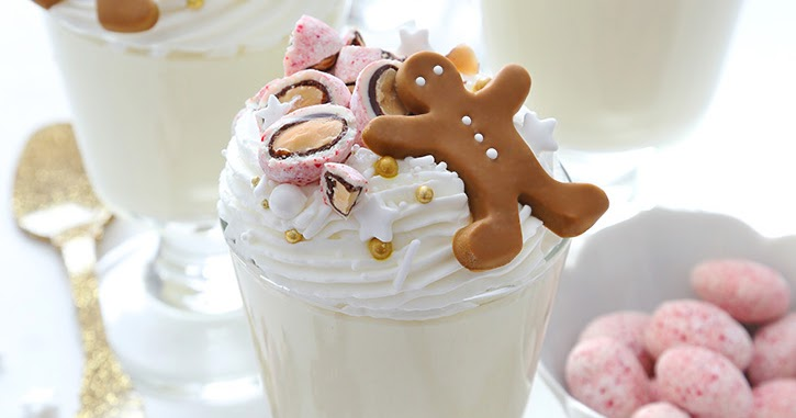 Marzipan Mousse with Candy Cane Almonds