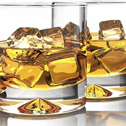 MOFADO Crystal Whiskey Glasses - Classic - 12oz Set of 2 - Lead Free Hand Blown Crystal - Thick Weig...