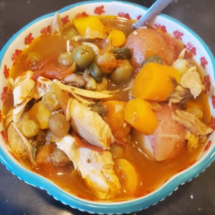 Estofado de pollo- Peruvian chicken stew : soup