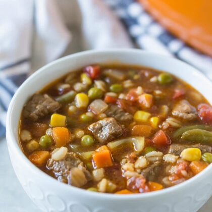 Beef, Vegetable, and Barley Soup