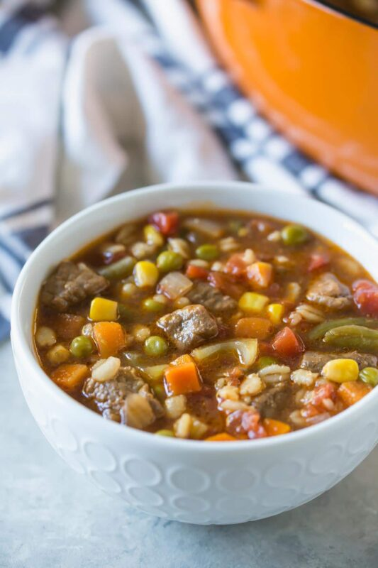 Beef, Vegetable, and Barley Soup - The Healthy Cooking Source